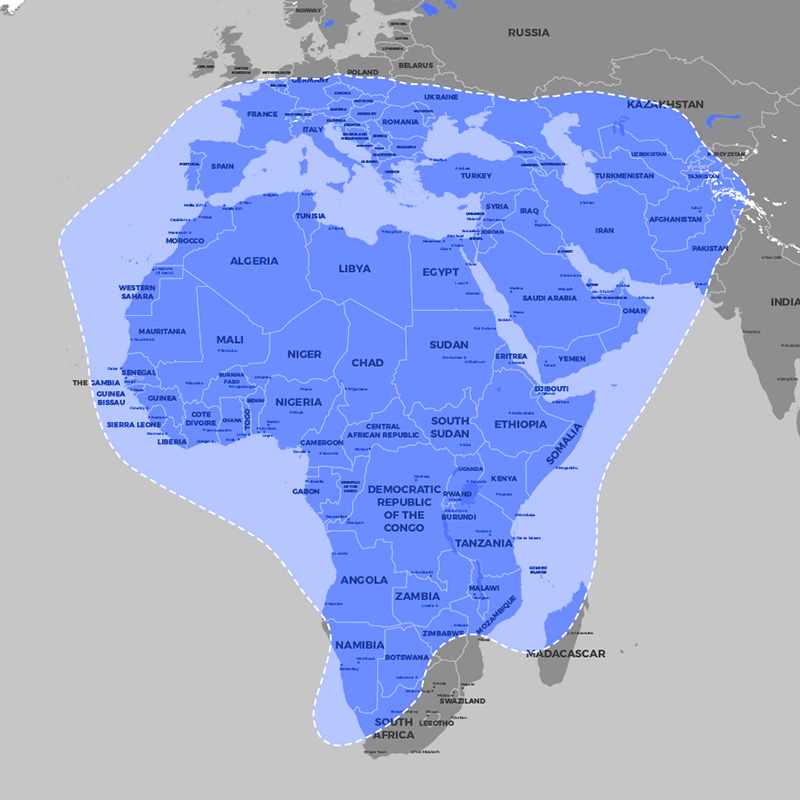 Satellites coverage internet satellite online satellite band c band position 20 east 20 e operator arabsat launch date 21st september 2011 launch vehicle ariane 5 eca gumiabroncs Choice Image